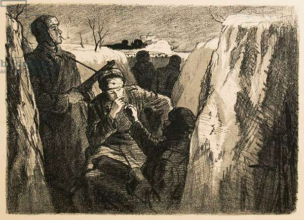 In the Trenches, 1947 (litho)
