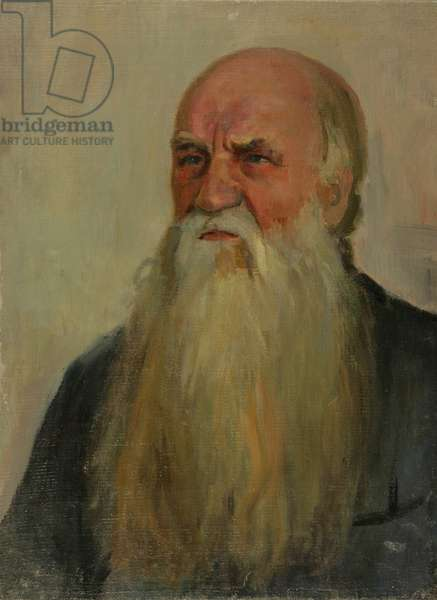 Portrait of an Old Man, 1950s (oil on canvas)