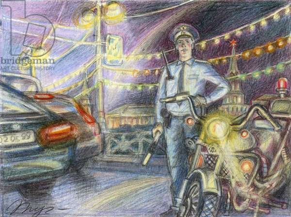 Readiness, 2008 (coloured pencil on paper)