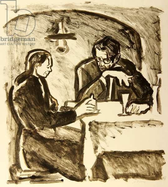 "Alyosha and Vanya, illustration to Fyodor Dostoyevsky's novel ""The Brothers Karamazov"" (1880), 1971 (monotype)"