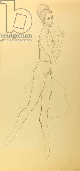 Natalia Bessmertnova, 1971 (pencil on paper)