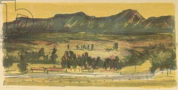 The Road to Yalta, 1958 (colour litho)
