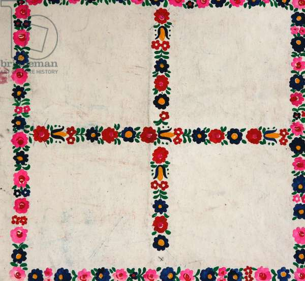 Design sketch for a scarf, 1978 (gouache on paper)