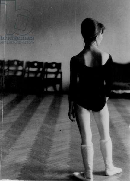 At rehearsal, Bolshoi Theatre, Moscow, 1970s (b/w photo)