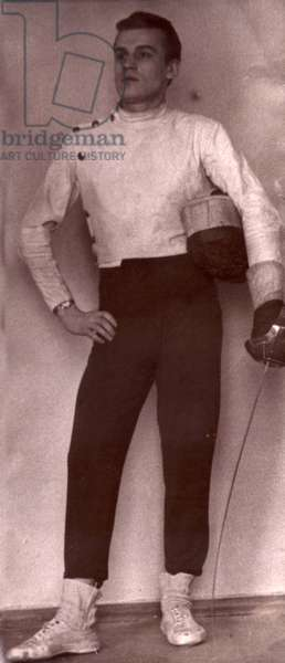 Fencer, 1962 (b/w photo)