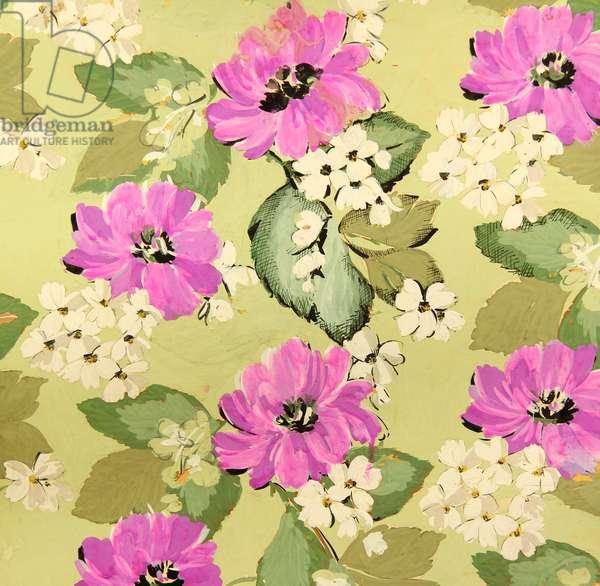 Textile Design, 1959 (tempera on paper)