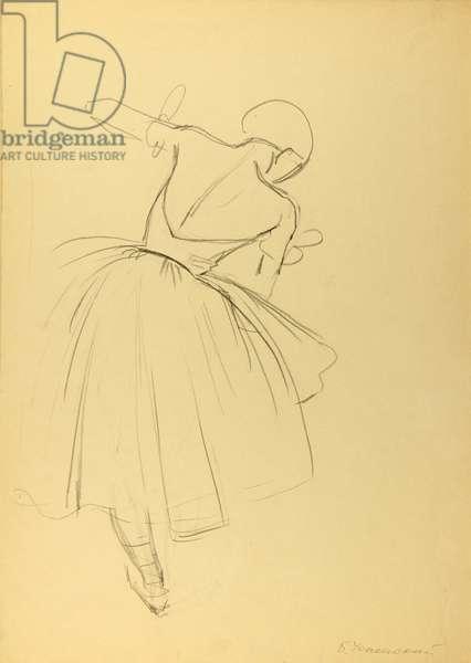 Ballerina, 1971 (pencil on paper)