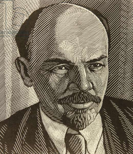 Vladimir Ilich Lenin, 1967 (linocut)