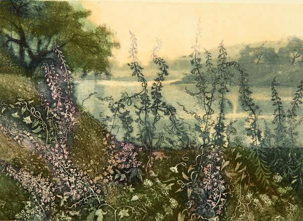 The Banks of the Oka River, 2017 (etching)