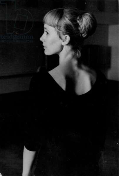 Portrait of Natalia Bessmertnova, 1970s (b/w photo)