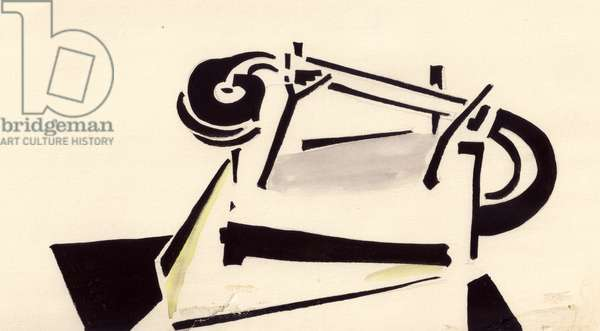 Illustration from 'About This' by Vladimir Mayakovsky, 1923, 1979 (gouache on paper)