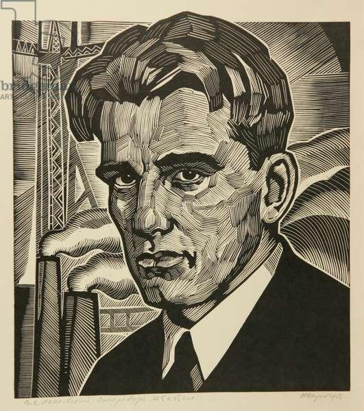 Vladimir Mayakovsky, 1968 (linocut)