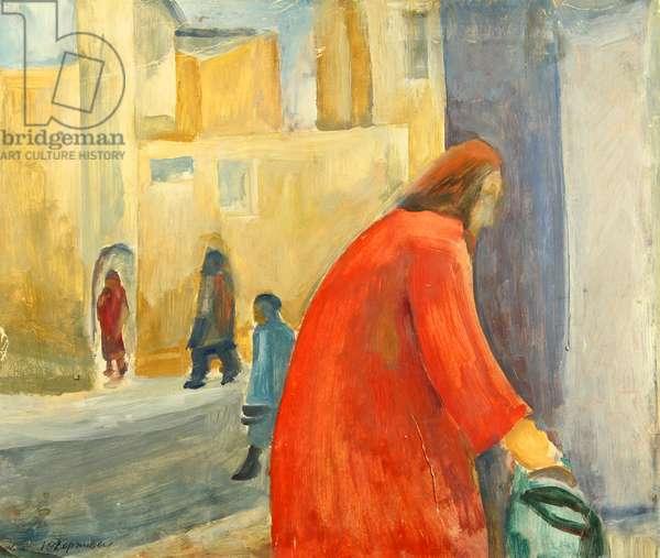 Street, 1978 (oil on paper)