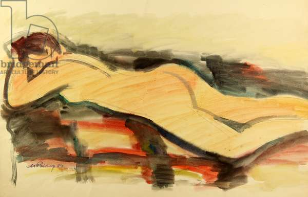Nude, 1974 (w/c on paper)