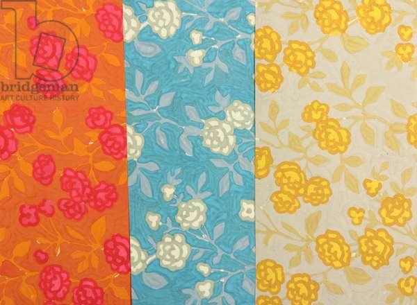 Textile Design, 1960s (gouache on paper)