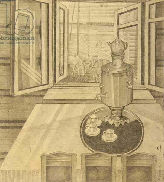 My Father's House, c.1970s (pencil on paper)