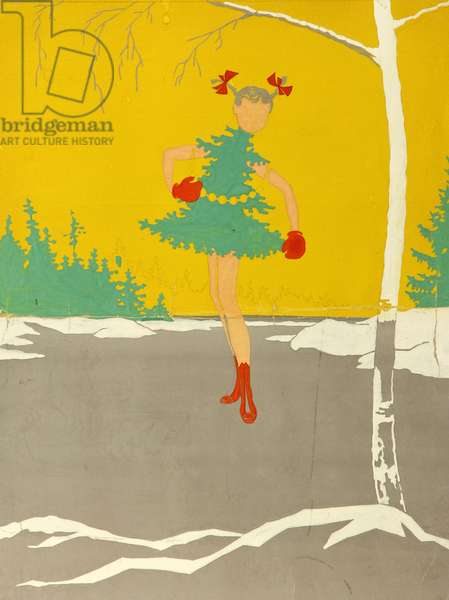 Christmas Tree, 1966 (gouache on paper)