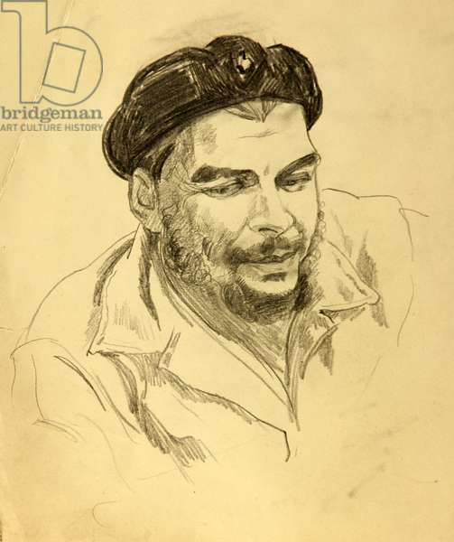 Che Guevara, 1962 (pencil on paper)