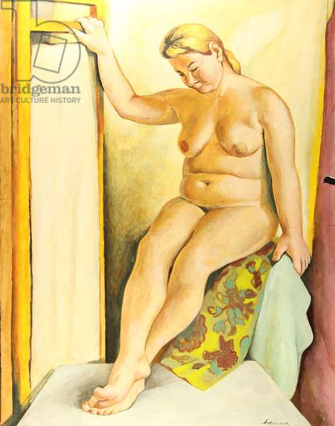 Nude, 1970s (tempera on paper)