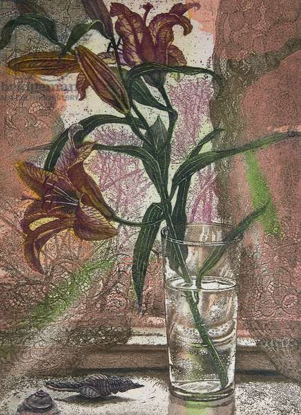Lily, 2007 (etching)