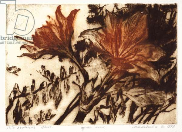 Spring Flowers, 1989 (drypoint)