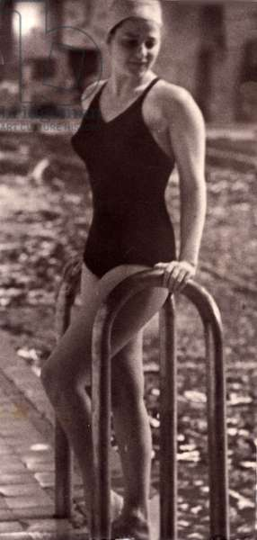 Swimmer, 1962 (b/w photo)