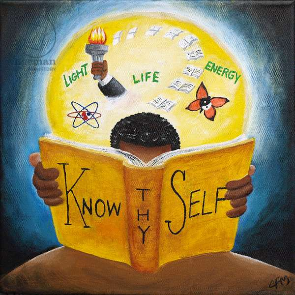 Know thy Self, 2015, (acrylic on canvas)