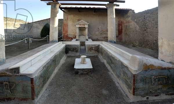 26/12/2015 Pompei restauration de la maison de l'Ephebe (Casa dell'Efebo) Italie Photo Frassineti ©AGF/Leemage