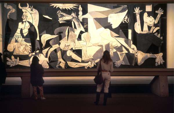 """View of the painting """"Guernica"""" at the museum Sofia in Madrid"""