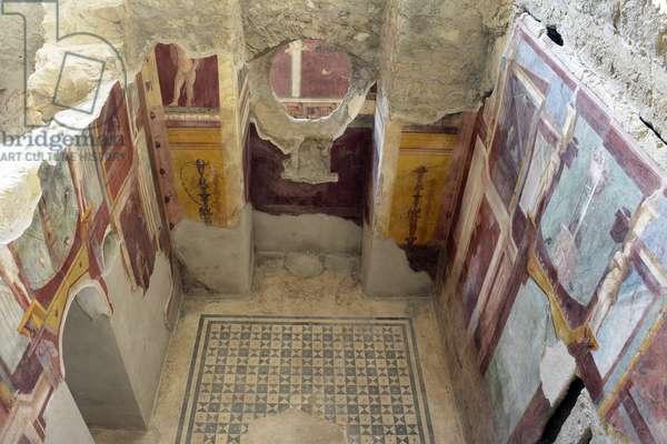 26/12/2015 Pompei restauration de la maison du cryptoportique (Casa del criptoportico) Italie Photo Frassineti ©AGF/Leemage