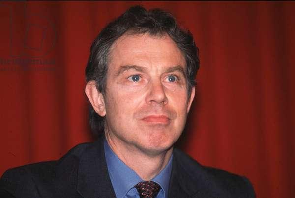 1999, portrait de Tony Blair. Photo Larini ©AGF/Leemage