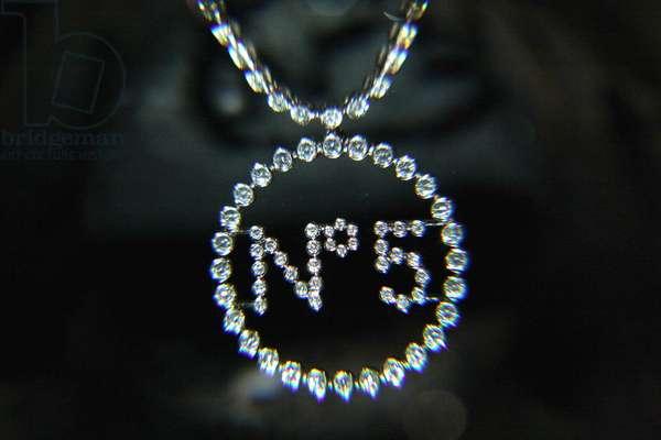 31/01/2005, exposition des bijoux Coco Chanel, le collier n. 5 porte par nicole Kidman. Photo Antonelli ©AGF/Leemage