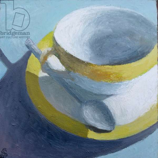 Yellow and white teacup 2