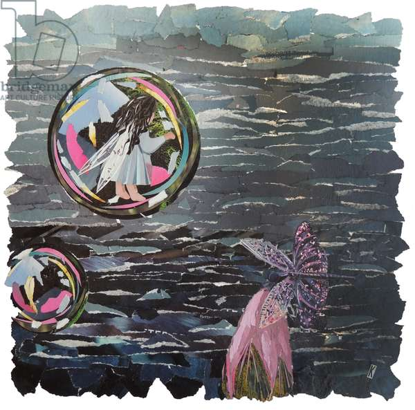Element Fairy - Water, 2017 (magazine collage)