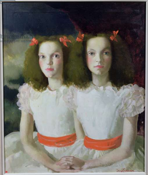 Janet and Anne Johnstone, 1934 (oil on canvas)