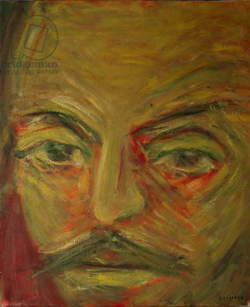 Shakespeare, Othello, from 'The Faces of Shakespeare' (oil on canvas)