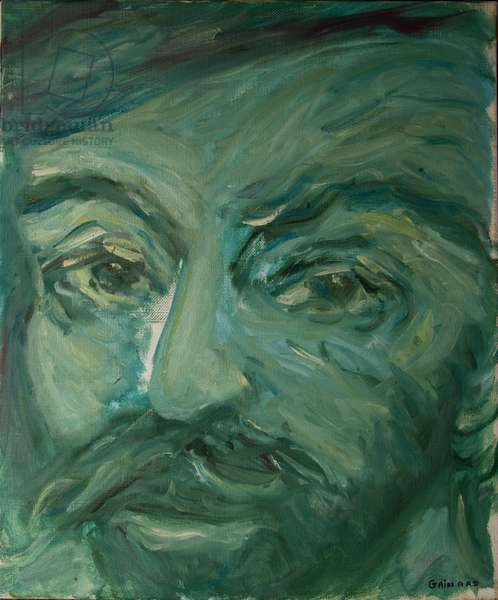 Shakespeare, Lysander, from 'The Faces of Shakespeare' (oil on canvas)