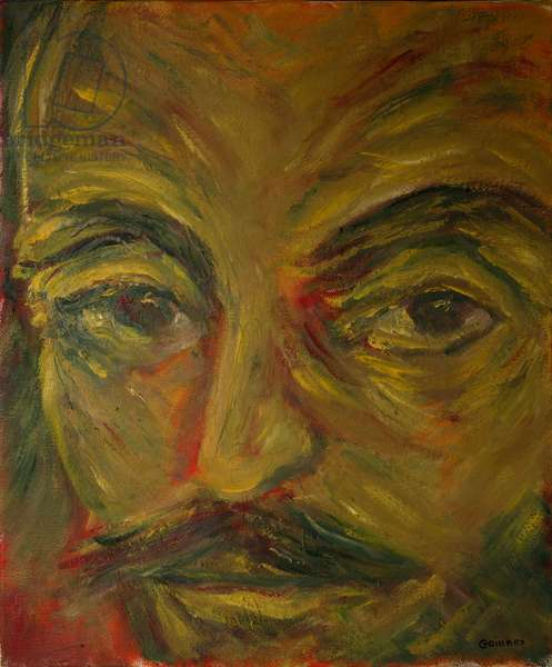 Shakespeare, Macbeth, from 'The Faces of Shakespeare' (oil on canvas)