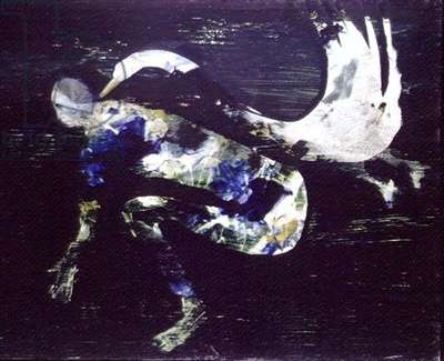 Leda and the Swan, 1960 (polyvinyl acetate on hardboard)