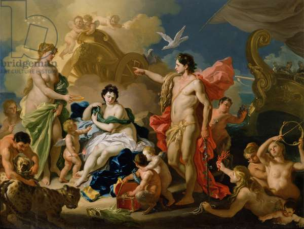 Bacchus and Ariadne (oil on copper)