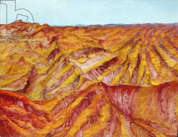 Central Australian Landscape, c.1949 (ripolin & red ochre oil paint on board)