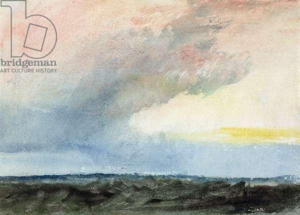 A Rainstorm at Sea (w/c on paper)