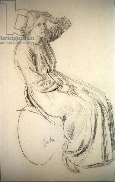 Euphemia Lamb (pencil on paper)