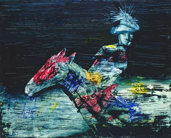Myth Rider, 1958 (polyvinyl acetate on board)