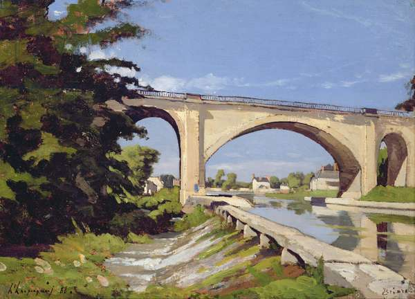 Le Pont Canal a Briare, 1888 (oil on canvas)