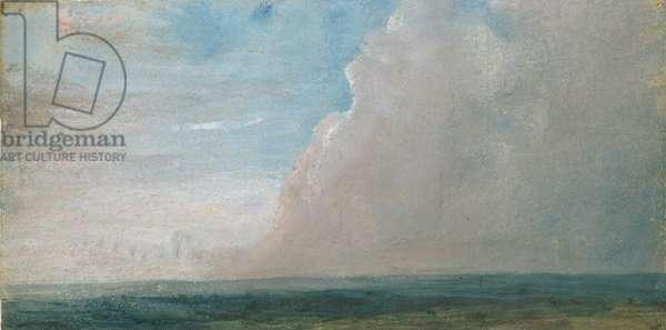 Sky Study (oil on canvas)