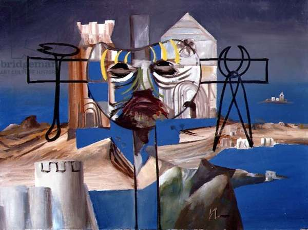 Italian Crucifix, 1955 (ripolin on board)