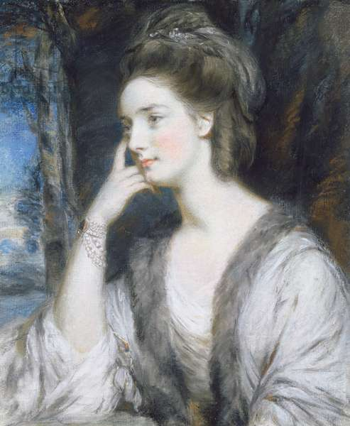 Lady Watkin Williams-Wynn (pencil & pastel heightened with bodycolour on paper)
