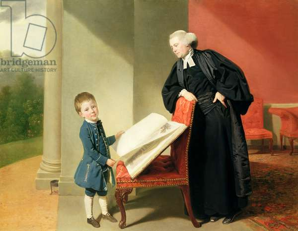 The Reverend Randall Burroughes and his son Ellis, 1769 (oil on canvas)