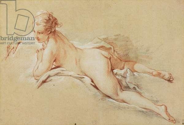 Recumbent Nude (pencil & chalk on paper)